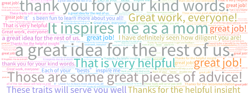 caring community word cloud
